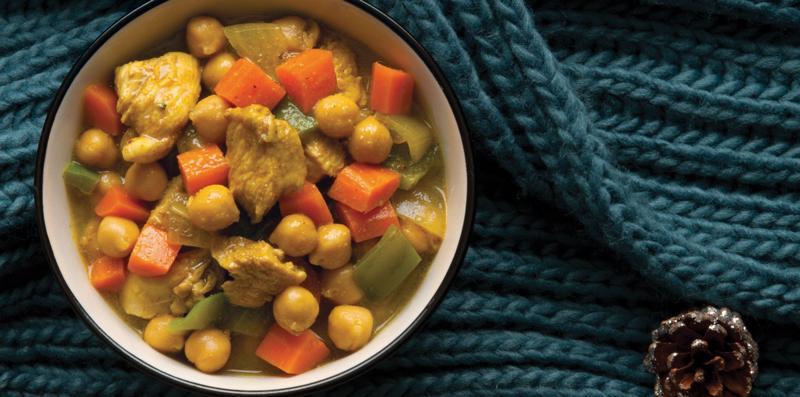 Pui curry cu năut