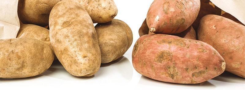 Cartofi  albi vs. Cartofi  dulci