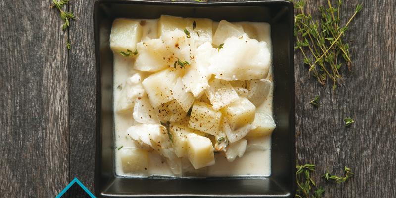 Supă cremă de peşte cu puţine grăsimi